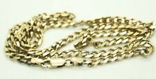 100% Genuine 9k Solid Yellow Gold Oval Curb Link Chain Necklace. Heavy, L 52 cm
