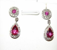 ORECCHINI ORO DIAMANTI RUBINI EARRINGS GOLD DIAMOND RUBY OHRRINGE DIAMOND Roby