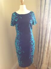 Per Una Womans Navy And Turquoise Floral Shift Dress. Size 12. Brand New.