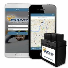MOTOsafety OBD GPS Tracker Device with 3G GPS Service Locator, Real-Time Teen &