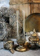 NOSTALGISCHE Laterne WINDLICHT Gold Metall Shabby chic Romantik Vintage Antik