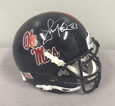 Shea Patterson SIGNED Ole Miss Rebels Mini Helmet COA 2017 Mississippi Football