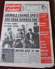MELODY MAKER JULY 4 1964 ANIMALS DAVE CLARK PROBY REEVES BEATLES MERSYBEATS