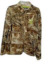 Realtree Max-1XT Mens L (42-44)  Breathable Camouflage Fleece Full Zip Jacket