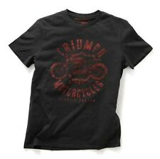 GENUINE TRIUMPH MOTORCYCLE T-SHIRT DISTRESSED CLASSIC CUSTOM RAFT TEE