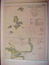 ISLE of SHOALS, GOSPORT HARBOR & YORK MAIN, Geo. Eldridge's harbor chart, No.57