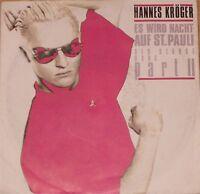 """Hannes Kröger, Es wird Nacht auf St.Pauli, VG/EX 7"""" Single 0741"""