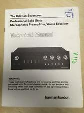 Harman Kardon Service Manual for the Citation Seventeen Preaplifier        mp