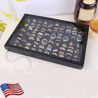 Jewelry boxes Ring Tray Rings Holder Showcase Display Storage necklaces Box USA