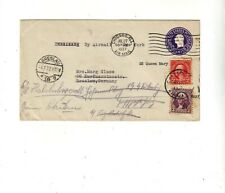 USA PSt.Cover 3c upratet Airmail+Shipmail  Chicago - Breslau 27.7.1937.