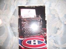 2005-06 MONTREAL CANADIENS MEDIA GUIDE BI-LINGUAL Yearbook Program Press Book AD