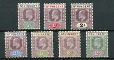 St Vincent 1902 short set to 2s SG76/83 (exc 1s) fine MM cat £61