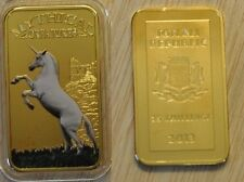 Somalia 2013 Goldplated Color Rectangular 25 shilling-Mystical Creatures-Unicorn