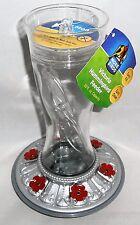 VICTORIA GLASS HANGING HUMMINGBIRD FEEDER  20 OZ Capacity