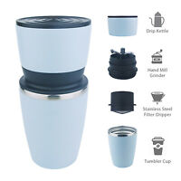 Kohi - All in One Portable Manual Coffee Grinder and Coffee Brew (Blue)