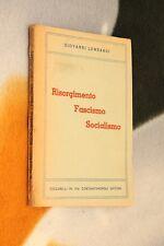 risorgimento fascismo socialismo
