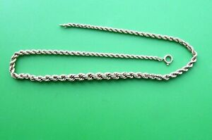 """QUALITY ROLLED GOLD GRADUATED ROPE NECKLACE 18"""" 13G"""
