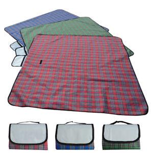 "79"" x 59"" Outdoor Waterproof Garden Picnic Blanket Mat Camping Pad Beach Rug Mat"