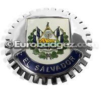 1- NEW Chrome Front Grill Badge República de LIBERTAD Flag MEDALLION EL SALVADOR
