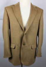 Joseph & Feiss Camel Hair Sport Coat Jacket Two Button Vented Brown Mens Sz 44 R