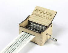 The Police - Every Breath You Take / Hand Crank Paper Strip Wooden Music Box