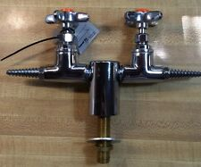 """New Lab Turret Tapered W/Two 180° Hose Cocks by Water Saver Faucet Co. USA 3/8"""""""