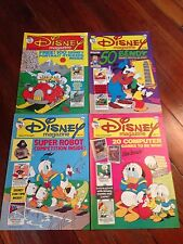 Disney Magazine #68 stickers 69 70 71 Donald Duck Mickey Mouse Uncle Scrooge
