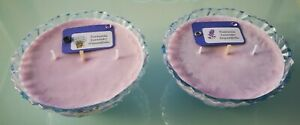 SPECIAL SALE 35% OFF. SOY CANDLES 2 CANDLES LAVENDER SCENT. CRYSTAL JARS.