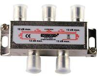 Schwaiger SAT-Verteiler 4-fach 5 - 2250 MHz F-Stecker Splitter Multiswitch 12 dB