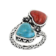 Fashion 925 Silver Turquoise Rings Women Wedding Engagement Jewelry Gift Sz 6-10