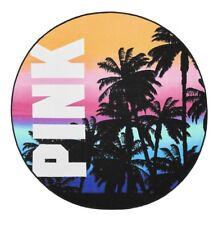 "Victorias Secret PINK Circle Beach Towel 55"" - MULTICOLOR PALM TROPICAL- NEW!"