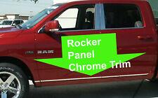 FOR DODGE 2001-2009 2010-2018 ROCKER PANEL Body Side Molding CHROME Trim 2pc