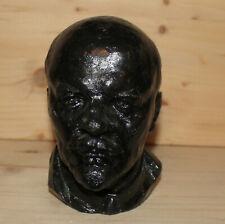 Vintage Soviet Russian hand made metal head figurine Vladimir Lenin
