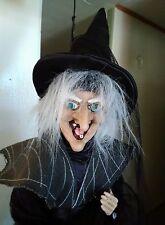 "GANZ Flying WITCH Broom Hanging 18"" Halloween Doll Decoration Black Hat NWOT"