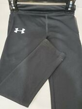 Girls Kids Youth Under Armour Pants NEW Black Size 4