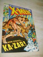 X MEN # 62  Neal Adams Cover Art Classic KAZAR - MAGNETO Appearance 1960s Nice