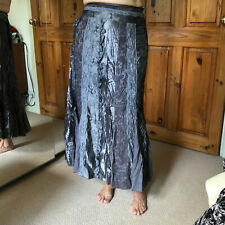 Marks and Spencer per una grey satin and lace long skirt size L size 12 R