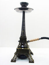 NEW BLACK PARIS EIFFEL TOWER MODERN Hookah Shisha Hooka BRASS Frame 1 Hose