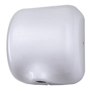 HAND DRYER HIGH SPEED ELECTRIC WHITE AUTOMATIC AUTO WASHROOM SCHOOL DRIER