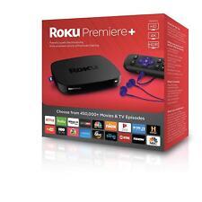 New Roku Premiere+ plus 4K UHD HDR Streaming Media Player 4630RW, Quad-Core