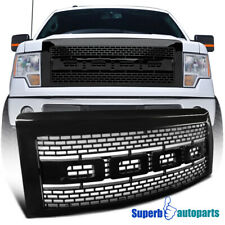 For 2009-2014 Ford F150 Black ABS Luxury Raptor Style Front Hood Grille