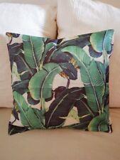 Kissen Kuschelkissen Sofakissen grün Blätter Dekokissen Jungle Dschungel 45x45cm