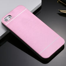 Brushed Metal Aluminium Hard Case Cover For Apple iPhone 4/5/6 Samsung S3/S4/S5