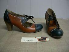 L'Artiste Spring Step BEYOND Brown Blue Lace up Pumps Shoes Size 41 US 9.5 - 10
