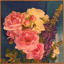 2 single paper napkins for Decoupage Scrapbooking Craft Collection Flowers Roses