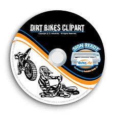Dirt Bikes Motorcycle Clipart Vector Clip Art Vinyl Cutter Plotter Graphics Cd