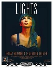 LIGHTS Valerie Poxleitner POSTER 2014 Gig Portland Oregon Concert
