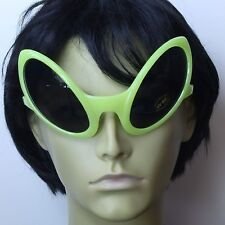 Area 51 Big Alien Glasses Sunglasses Yellow Frame Novelty UFO Bug Costume