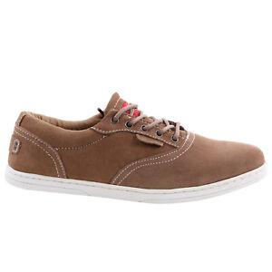 Dickies Herren Wild Leder Sneaker Schuhe DELTA Beige Größe 40