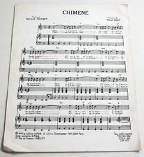 Partition vintage sheet music GERARD MANSET / RENE JOLY : Chimène * 60's